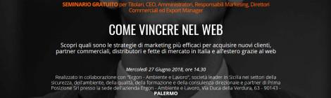 SEMINARIO COME VINCERE NEL WEB