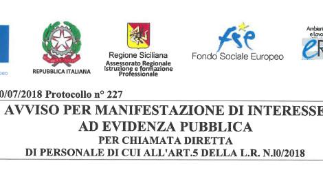 Avviso 2/2018 MANIFESTAZIONE DI INTERESSE